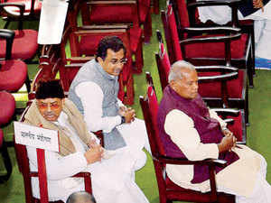 """Sources told ET Manjhi's expulsion was to """"stop him from mopping up MLAs while the governor delayed convening of the House""""."""