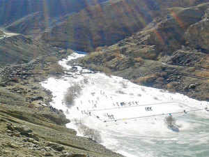 As a precautionary measure the authorities suspended the famed Chadder Trek that was a source of income for the locals.