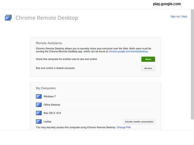 Chrome Remote Desktop (Chrome Extension) - Here's how to manage and