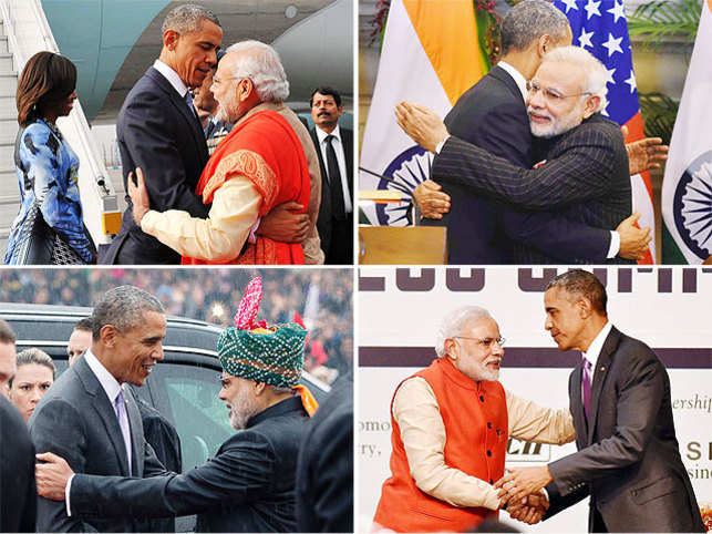 When Obama and Modi huggedduring the US President's recentIndia visit, tongues waggedabout Obama's awkward grasp. And, they hugged again and again...