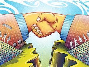 The pact was signed by ASatynarayana(officiating), Asset Manager, and BVenkateshKumar, Director National CSR Hub (TISS), inGodavariBhavan.
