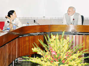 Banerjee held talks exclusively with PM Modi for about 20 minutes. A senior Trinamool Congress MP who accompanied her told ET.