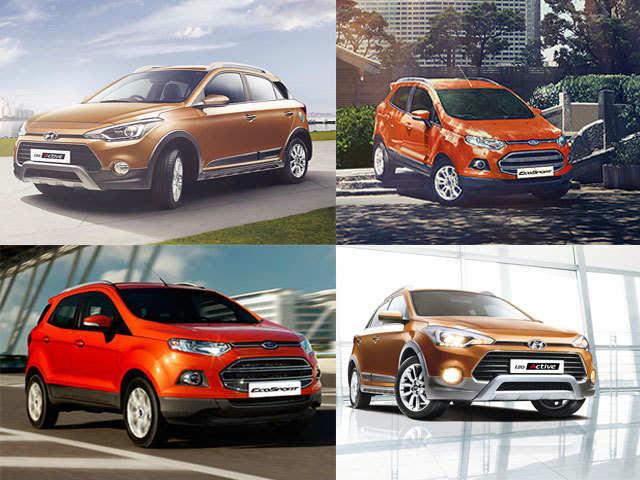 exterior design - hyundai i20 active vs ford ecosport: specification