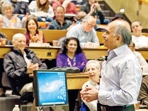 As he starts his year-long course on the fundamentals of physics, Yale University professor R Shankar gives his students a quick synopsis.
