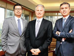 (L to R) Vishal Mahadevia, Charles Kaye and Niten Malhan.