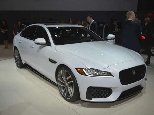 caac2357a0 India-bound 2016 Jaguar XF debuts at New York Auto Show - India ...