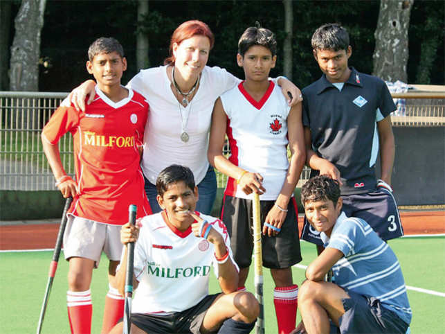 37-year-old German coach Andrea Thumshirn with some of her students.