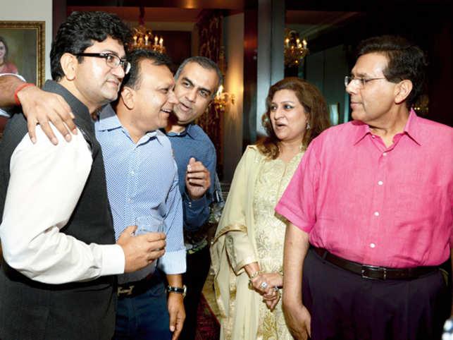 Image: (L-R)Prasoon Joshi, McDonald's' Amit Jatia, TPG's Manish Chokhani, Shalini and Dilip Piramal.