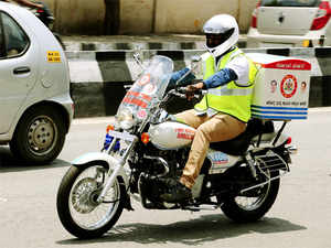 The bike ambulance service is being implemented through GVK EMRI that runs 108 ambulance services.