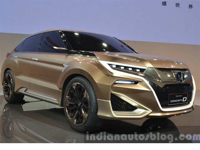 Honda concept d suv showcased at auto shanghai 2015 for Honda jeep 2017