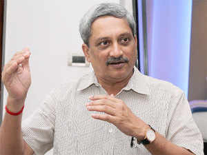 """Parrikar said the ministry would be taking pro-active measures to encourage private players in defence sector in tune with the PM's vision of """"Make in India""""."""