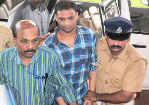 K A Najeeb being produced in court for chopping off professor T J Joseph's hand