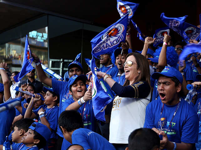 """""""If we can combine the incredible power of education and indomitable spirit of sports, we can create magic in our lives,"""" says NitaAmbani."""