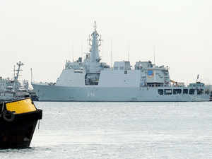 The commissioning of INS Sardar Patel at Porbandar would enable the Navy to augment its infrastructure and organisational effectiveness in Gujarat. (Representative Image of Indian Navy)