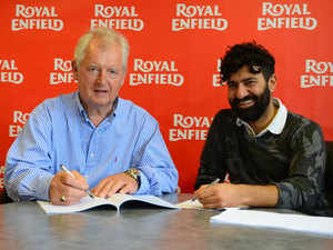 (From left to right) Steve Harris, Director Harris Performance with Siddhartha Lal, CEO Royal Enfield.