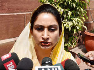 Harsimrat Kaur said the food park's promoter company had expressed its inability to pursue the project in the absence of natural gas.