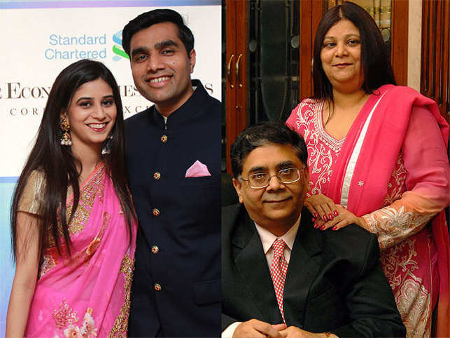 Cyril and his wife's (right) marriage was held on the first floor of the building where they live now. A spot where their daughter Paridhi (left, with husband Karan Adani) also got married in 2013.