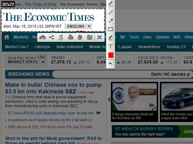 LightShot - 7 must have Chrome browser extensions | The Economic Times
