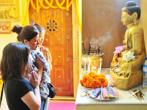 New Delhi has a huge population following Buddhism.