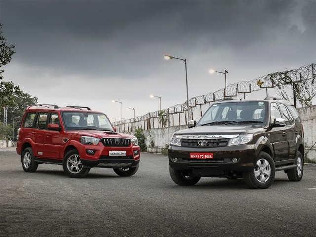2015 Tata Safari Storme Vs 2014 Mahindra Scorpio Comparison Review
