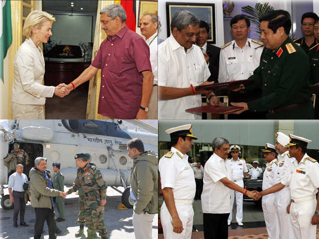 Greeting the vietnamese defence minister defence minister manohar defence minister manohar parrikars hectic schedule m4hsunfo