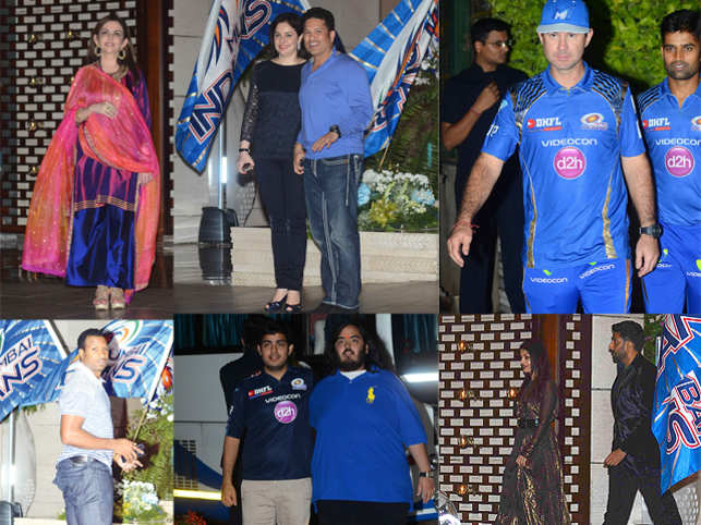 Hosted at the Ambani residence, The Mumbai Indians victory bash saw celebrities from Bollywood and cricket in attendance.