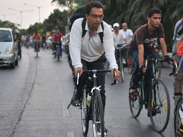 Are you tired of Delhi's pollution? Well, one trip on the cycle can save a minimum of 110 litersof fossil fuel per year for one person.