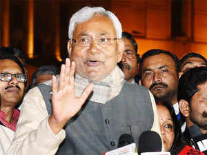 Chief Minister Nitish Kumar today started meeting party legislators and Parliamentarians to take feedback from them about JD(U)-RJD tie-up.