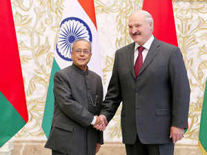 India and Belarus decided to work together on defence and security issues as President Pranab Mukherjee met his Belarusian counterpart and agreed on a 17-point roadmap.