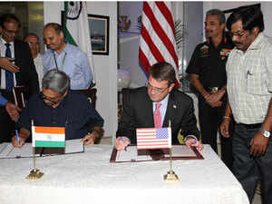 Manohar Parrikar and Ashton Carter on Wednesday signed the 2015 Framework for the India-US Defence Relationship.