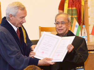 PresidentPranabMukherjeevoiced serious concern over terrorism and extremism faced by Indiaduring his address at the Belarus State University.