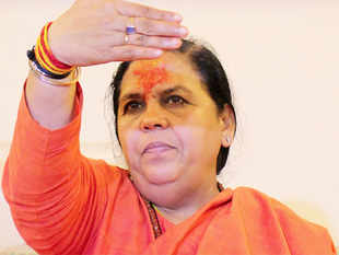 """""""We are planning two projects on Brahmaputra, which I have briefed Prime Minister Narendra Modi about"""", Water Resources Minister Uma Bharti told reporters."""