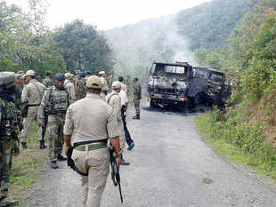 Dominant Naga insurgent group NSCN-K, headed by Myanmar-based S S Khaplang, is suspected to be involved in the ambush of an army convoy in Manipur where at least 18 soldiers were killed and 11 injured.
