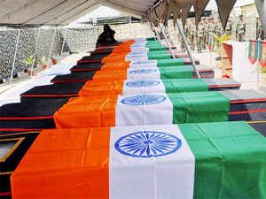 An Indian Air Force plane brought the mortal remains of the martyred soldiers to Jammu from where they were sent to their native villages by road for last rites.