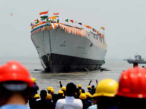 Bangladesh Naval Ship BNS Somudra Joy (Hamilton Class frigate) has begun its four-day visit to India.(In pic: Indian Navy's newly built warship INS Visakhapatnam)