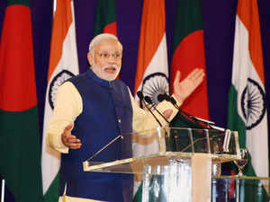 PMNarendraModihas been criticisedfor saying that his SheikhHasinashould be congratulated for her resolve to fight terrorism.