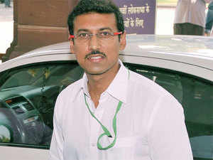 """Rajyavardhan Singh Rathore today lauded the Army operation in Myanmar and said PM Narendra Modi had ordered """"hot pursuit"""" in which two rebel camps were completely annihilated."""