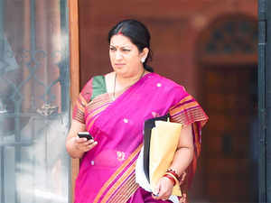 ICSSR sources said what irked the ministry is the confidential agenda of the meeting that was to finalize search-cum-selection committee to appoint the new member-secretary. Present member-secretary Ramesh Dadich, whose term expired few months ago, has been given extension till further notice.In Pic: HRD Minister Smriti Irani.