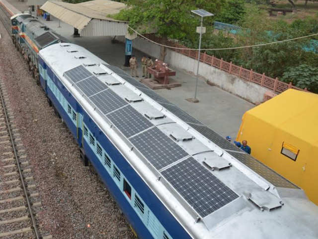 Indian Railways Begins Trials Of Solar Powered Trains