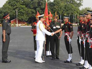 A total of 687 cadets were inducted into the Indian army as officers today after a passing-out parade at the prestigious Indian Military Academy here.Pic courtesy: SpokespersonMoD Twitter handle