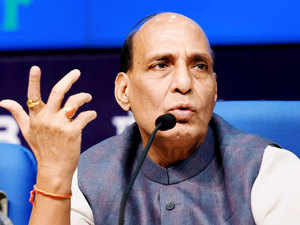 Rajnath Singh and Finance Minister Arun Jaitley announced a package of Rs 2,437 crore for relief and rehabilitation of flood-hit people in J&K.