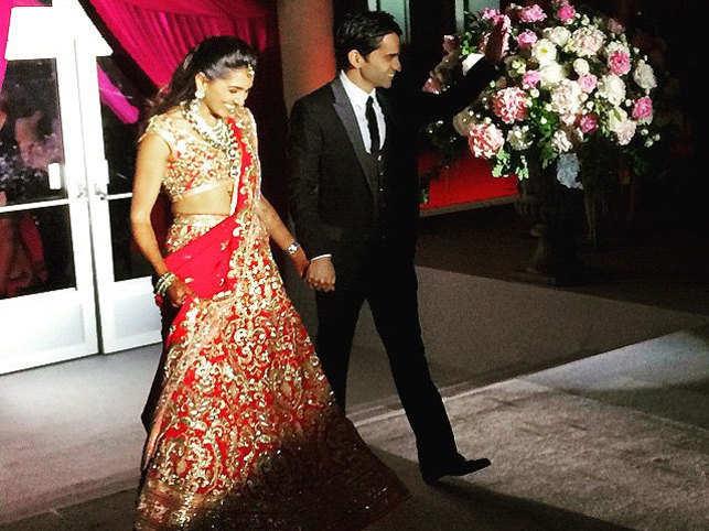 Snapshots from businessman Kimi Grover and London socialite Pamela's son, Ashwin's wedding to Riya Khilnani.