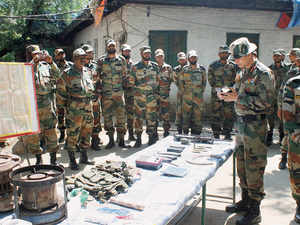 An unidentified militant was today killed as security forces thwarted an infiltration bid in Machil sector of north Kashmir's Kupwara district.