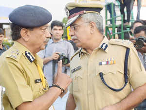 Delhi Police Commissioner BS Bassi with Special Commissioner of Police Law And Order Deepak Mishra. The corporate sector is now afraid of being caught.