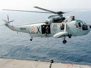 The pilots braved difficult weather to rescue those stuck on board the two vessels, a senior Navy official said explaining the operation undertaken.