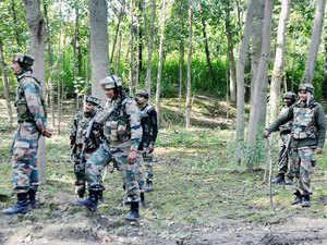 File photo: Army personnel heading towards the house where two Lashkar-e-Taiba (LeT) militants were hiding during an encounter at Radwani in Kulgam district, Kashmir.