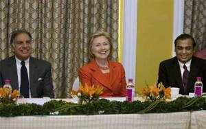 Hillary Clinton on official visit to India