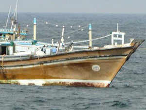 A 12-member crew from Iran who were in the dhow have been taken into custody by Kerala police and are being interrogated.