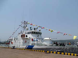 TheIPV, designed by Hindustan Shipyard Ltdis equipped with the most-sophisticated navigational communication sensors and equipment.(Pic Courtesy: MoD Twitter Handle)