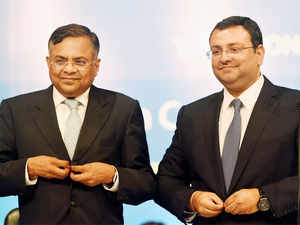 """iON has about Rs 1,000 cr in revenue now. It could become a separate unit because it has an entirely different way of working,"" a TCS exec said. (In Pic:Cyrus Mistry, Chairman of Tata Group and N Chandrasekaran, CEO & MD of Tata Consultancy Services (TCS) during the company's 20th Annual General Meeting in Mumbai)"